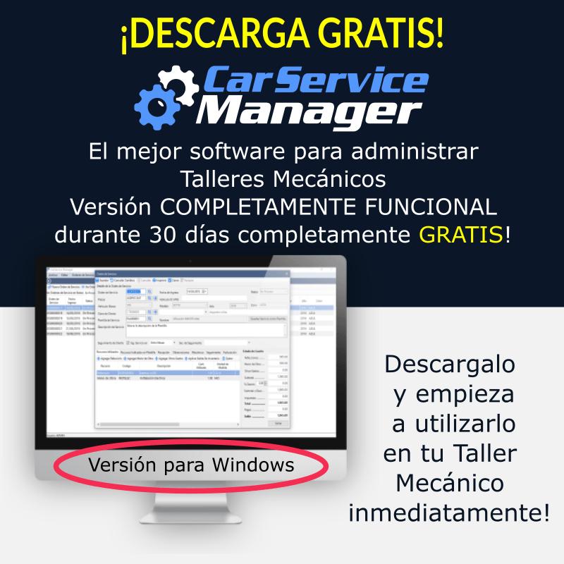 Descarga CarService Manager - Versión Completamente Funcional por 30 días